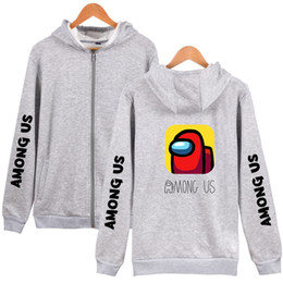 video game clothing Canada - Among Us Unisex Rits Hoodies Women men Hoodie Long Mouw Sweatshirt 2020 Video Game Street Style Clothing Plus Size