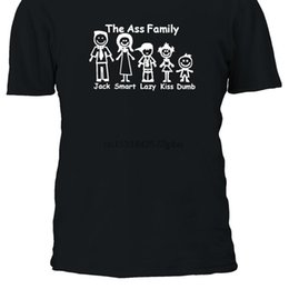 Ass Family Jack Smart Lazy Bacio Dumb T Shirt T-shirt Top Top Uomo Donna Boy Girl Ladies S M L XL XXL 3XL 4XL 5XL 2129