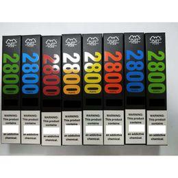 Vente en gros Nouveaux barres flexibles Dispositif jetable Kits de vape 2800 Puffs 10ML Préruré 13colors VS Flow XXL Plus Max DHL GRATUIT