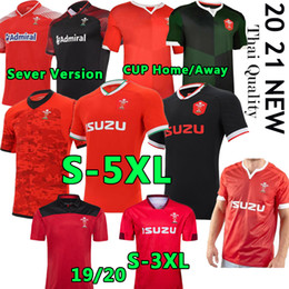 polo rojo al por mayor-S XL Gales Rugby National Team Jerseys Cymru Hogar Red Away Men Polo T Shirt E Hombres Rugby Training Jesery Uniforms