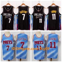 Wholesale jersey nba for sale - Group buy Men Kyrie Irving Brooklyn Nets Jersey Kevin Durant NBA City Swingmans Basketball Jerseys Black Blue