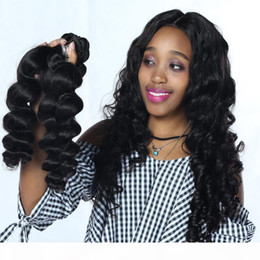 indian human hair extensions cheap Canada - VIYA 8A Virgin Human Hair Loose Wave Bundles 3Pcs Indian Loose Wave Hair Weaves Unprocessed Cheap Hair Extensions