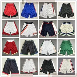 blue yellow basketball shorts Australia - Top Quality ! New Stitched Basketball Shorts Men Sport Shorts College Pants White Black Blue Red Green Sport Shorts S-XXL