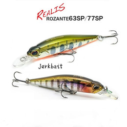 trout bass fishing lures hard baits 2021 - 77mm 8.4g New Fishing Lures Small Sinking Minnow Jerkbait DUO Hard Lures Fishing Wobbler Bass Crankbait Trout Lures Roza