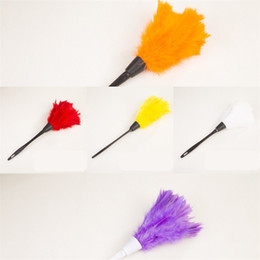 Hanging Feathers Dusters Dust Removal Home Duster Plastic Handle Cleaning Tools Living Room Purple Portable 1 8xq L2 on Sale