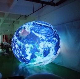 Bola inflável inflável da esfera inflável do globo inflável da esfera da terra da terra do diodo emissor de luz 2m para a decoração dos eventos em Promoção