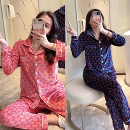 Wholesale womens pajamas resale online - nUbY BZEL Flower Pajamas Sleepwear Womens Couple Printed pleuche Pijamas Silk Wear Pyjama Woman Home Satin Women Pyjama Set Home Suit Big Si