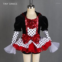 Wholesale tap dancing resale online - Girls and Women Jazz and Tap Dance Costume Stretch Black Velvet Bodice with Boyshort Tutu Skirt Dance Wear