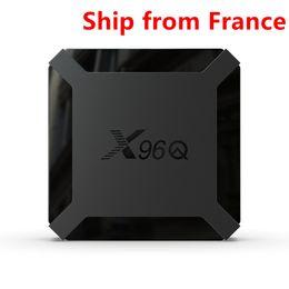 (Ship from France) X96Q Android 10.0 2GB RAM 16GB Smart TV Box Allwinner H313 Quad Core Set Top Box Media Player on Sale