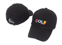 odd future shirts Australia - Tyler The Creator Golf Hat - Black Dad Cap Wang Cross T-shirt Earl Odd Future free ship