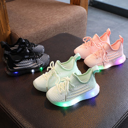 Wholesale shoes children shining resale online - sport shoes led for girls sneakers kids boys bebe toddler baby children shoes with light luminous shining glowing