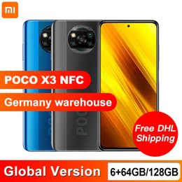 Wholesale Global Version Xiaomi POCO X3 NFC 6GB 64GB 128GB Smartphone Snapdragon 732G Octa Core 64MP Quad Camera 6.67 inch 120Hz DotDisplay 5160mAh