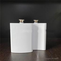 8oz branco frasco de quadril de aço inoxidável sublimação em branco pote diy bolso mini garrafas de vinho camping ao ar livre drinkware 12 5bw g2 em Promoção