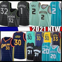 Großhandel Stephen Kevin 21 Garnett 30 Curry 33 Wiseman Basketball Jersey Lamelo 2 Ball Gordon 20 Hayward Anthony 1 Edwards Karl-Anthony 32 Städte