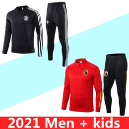 Wholesale e r for sale – custom 2020 Belgium soccer tracksuit Survetement VERRATTI DE BRUYNE E HAZARD R LUKAKU football training suit jacket Jogging chandal suit