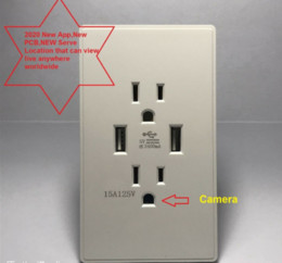 Wholesale New HOT P WiFi network wall communication socket safety nanny camera full HD video recorder