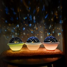 baby starry night light Canada - UFO Projection Lamp LED Night Light Starry Sky Ocean Universe Decoration Lighting Bedroom Bedside Lamp for Children Kids Baby