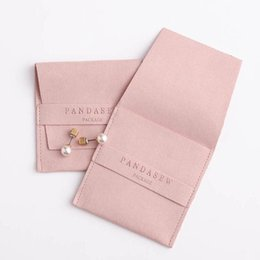 necklaces business 2021 - 50pcs Customize Business Logo Text Jewelry Packaging Pouches Chic Small Microfiber Bags For Earings Necklace Luxury Jewe