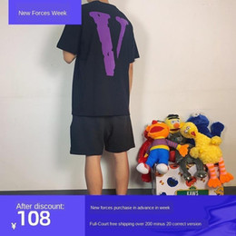 Wholesale Hot Brand VL-qualified short-sleeved T-shirt, big V-Wang Yibo, loose high-street Hip-Hop, male and female lovers