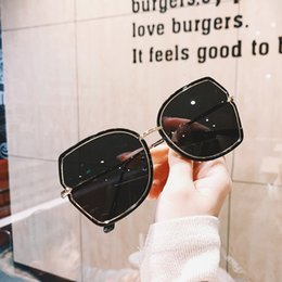 Occhiali coreani Big Frame Round Fashion Women Fashion Street Photo Cover Face Butterfly Sunglasses Femmina Ins