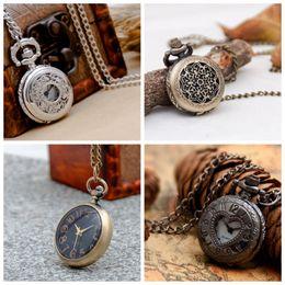 New Lead Black Small Numeral Heart Watch Quartz 27MM Necklace Retro Accessories Wholesale Korean Edition Sweater Chain Fashion Watch on Sale
