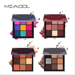 green eyes color eyeshadow UK - New Arrival Warm Earth Color Eyeshadow Powder Makeup Palette Matte Shimmer Eye Pigmented Powder Make Up 9 Colors Eyeshadow