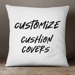 Customize Cushion Cover Your Own Design Files Print on Pillow Case 3 Fabric Available Linen, Polyester, Soft Short Plush High Quality on Sale