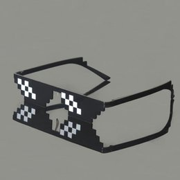 rubber sunglasses NZ - Eyeglasses XMY Fashion Sun Party Women Popular Toys Sunglasses Men Thug Life Mosaic Pixelated Vintage Glasses Glasses Trgnb