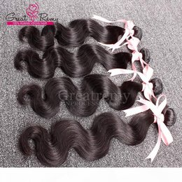 premium hair weave Canada - 9A cheap weave 3pcs lot wholesale top quality human hair Body Wave Indian hair grade 9A Premium Quality virgin hair bundles for Greatremy?