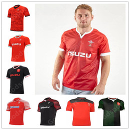 polo rot großhandel-2021 Rugby World Cup Jersey Wales Rugby Jersey Walisisches Polo T shirt Rugby League Jersey Shirt Rote Männer Hemden Heißer Verkauf Sport