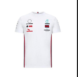 Wholesale F1 team racing short-sleeved T-shirt, polyester quick-drying, downhill jersey for fans, same style customization