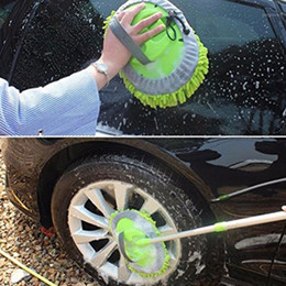 Wholesale Retractable Car Wash Mop (Including Brush Head)Dust Removal Detachable Dual-use Mop Rag Strong Water Absorption Car Cleaning1