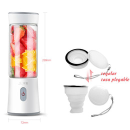 Wholesale 350ml Stainless Blade Mini USB Rechargeable Portable Electric Fruit Juicer Smoothie Maker Blender Machine Sports Bottle Juicing Cup