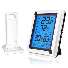Wholesale Touch screen Weather Station + Outdoor Forecast Sensor Backlight Thermometer Hygrometer Wireless weather station1