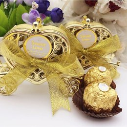 baby carriage decorations Australia - Cute Carriage Favours Gift Candy Chocolate Gold Box for Wedding Baby Birthday Party Favour Decoration