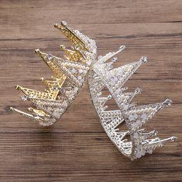 New Princess Headwear Chic Bridal Tiaras Аксессуары Потрясающие Кристаллы Жемчужины Свадебные Тиары и Коронки 12101 на Распродаже