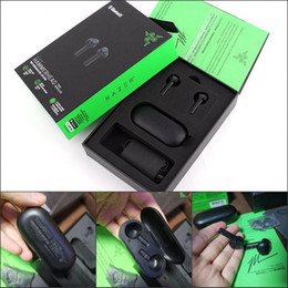 Razer Hammerhead True Casques sans fil Tws Bluetooth 5.0 IPX4 Écouteurs intra-auriculaires Micro-oreille intégrée Micro-in-ON / Off Casques Écouteurs DHL en Solde
