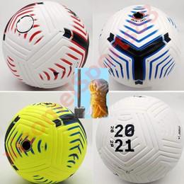 Toptan satış premer 20 21 futbol topları liga Kulübü Lig 2020 2021 Boyut 5 Toplar futbol topu yüksek kaliteli güzel maç (havasız topları Gemi)