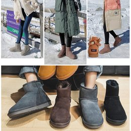 Discount light winter boots 2021 Newest Arrival Women Classic Low Boots Top quality grey black Chocolate maroon boots Snow Winter boots size 40-45