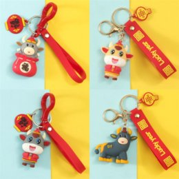 Wholesale keys cams for sale - Group buy 2aEy New dvr Simulation cam Plant Lucky Bag Bull Small Gifts for the Year of the Ox Cactus Potted Keychain Women Girls Key Ring keychain
