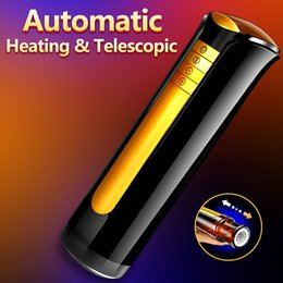 heated pussies 2021 - Automatic Telescopic & Heating Male Masturbator Men Masturbation Silicone Sex Real Vagina Pussy Masturbator for Man Erotic Toys