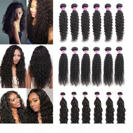 indian human hair extensions cheap Canada - Cheap Mongolian Virgin Human Hair Bundles Water Wave wet and wavy human hair Extensions Indian Deep Wave Malaysian Kinky Curly Weaves Wefts