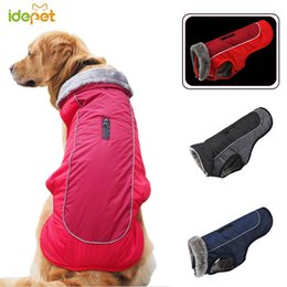 xxxl designer clothes Canada - Reflective Pet Dog Clothes Waterproof Dog Coat Pet Jacket Puppy Vest Thickness Warm Outfit Clothing for Big Dogs XS-XXXL 35