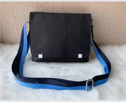 Wholesale blue crosses resale online - High quality Men briefcase messenger bags cross body bag school bookbag shoulder bag NIJ21354