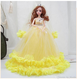 barbie princess dresses Canada - 40cm Colorful Wedding Dress Barbie Doll Princess Evening Party Clothes Wears Long Dress Outfit Set Accessories Kids Girl Toy