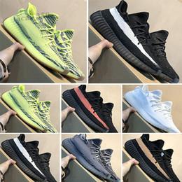 Adidas Yeezy BOOST 350 V2 Kanye West Bottes Zebra 35 hommes chaussures de sport jaune 35 v2 Bottes 35V2 chaussures de sport 35 V2 pour les femmes l'homme Kanye West sport SC03 en Solde