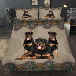 Discount twin size bedding sets dogs 3D Bedding Set Pet Dog Printed Single Double Duvet Cover Set Twin Full Queen King Size Bed Linens Children Adult Home Be