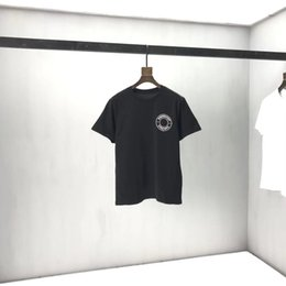 2020ss spring and summer new high grade cotton printing short sleeve round neck panel T-Shirt Size: m-l-xl-xxl-xxxl Color: black white q96 on Sale