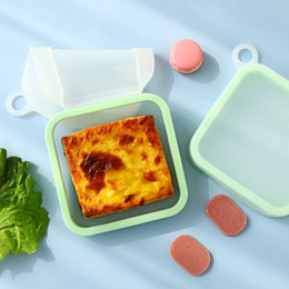 Wholesale travel portable microwave oven refridge safe food grade silicone brade sandwich storage bags lunch boxes wholesale price