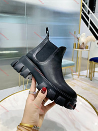 Discount floral print dress shoes Popular fashion high quality women shoes Martin boots ladies patent leather ankle boots high top black cloud dress boots black rubber soles